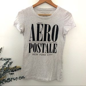 Aeropostale NY grey black glitter T-shirt Medium